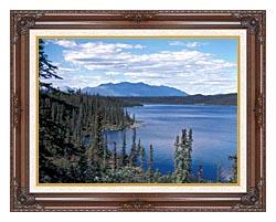 U S Fish And Wildlife Service Blackfish Lake canvas with dark regal wood frame