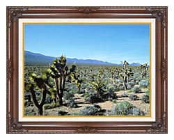 U S Fish And Wildlife Service Yucca Forest canvas with dark regal wood frame
