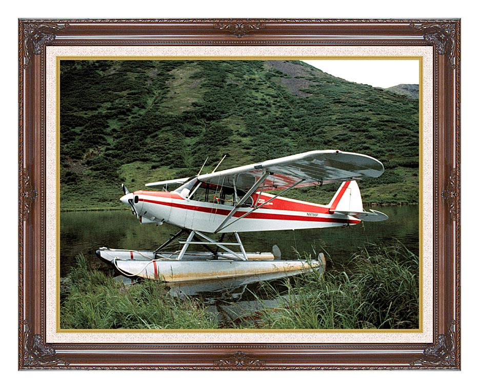 U S Fish and Wildlife Service Float Plane with Dark Regal Frame w/Liner