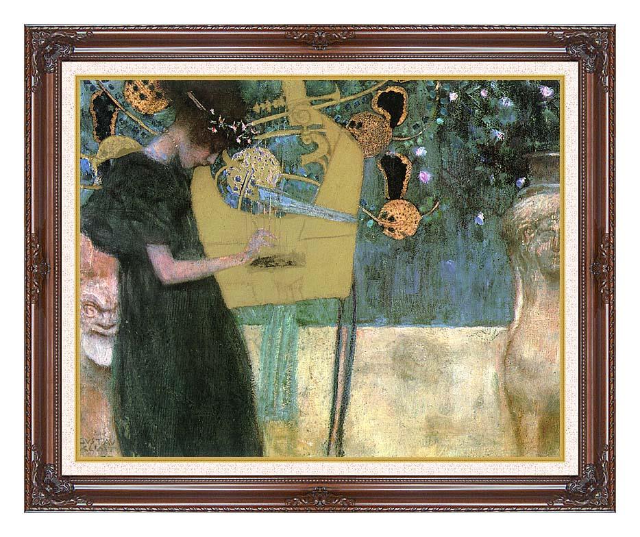 Gustav Klimt Music I with Dark Regal Frame w/Liner