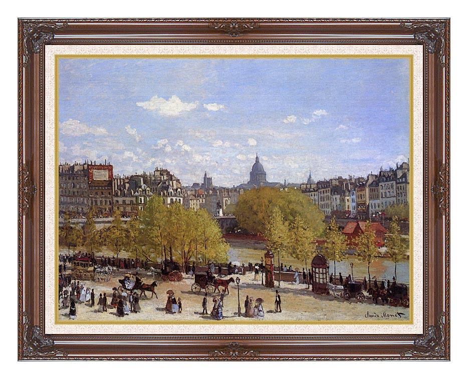 Claude Monet Quai du Louvre, Paris with Dark Regal Frame w/Liner