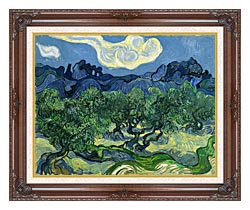 Vincent Van Gogh The Olive Trees canvas with dark regal wood frame