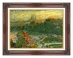 Claude Monet The Tuileries Study canvas with dark regal wood frame