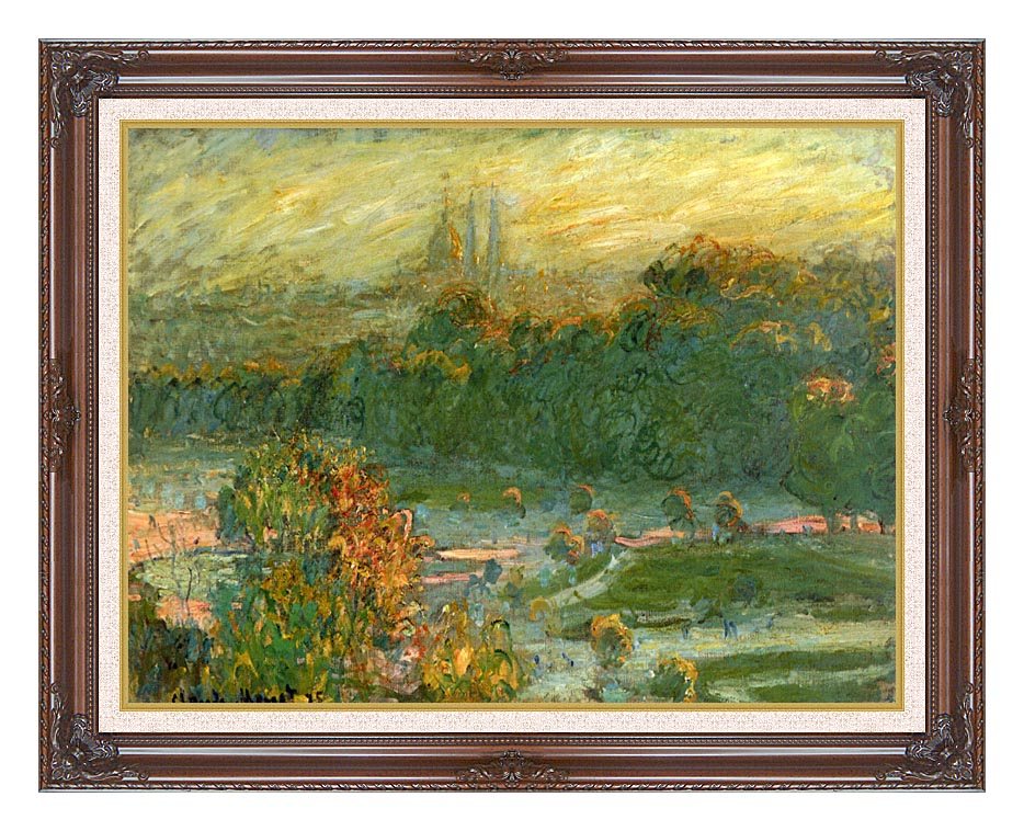 Claude Monet The Tuileries (study) with Dark Regal Frame w/Liner