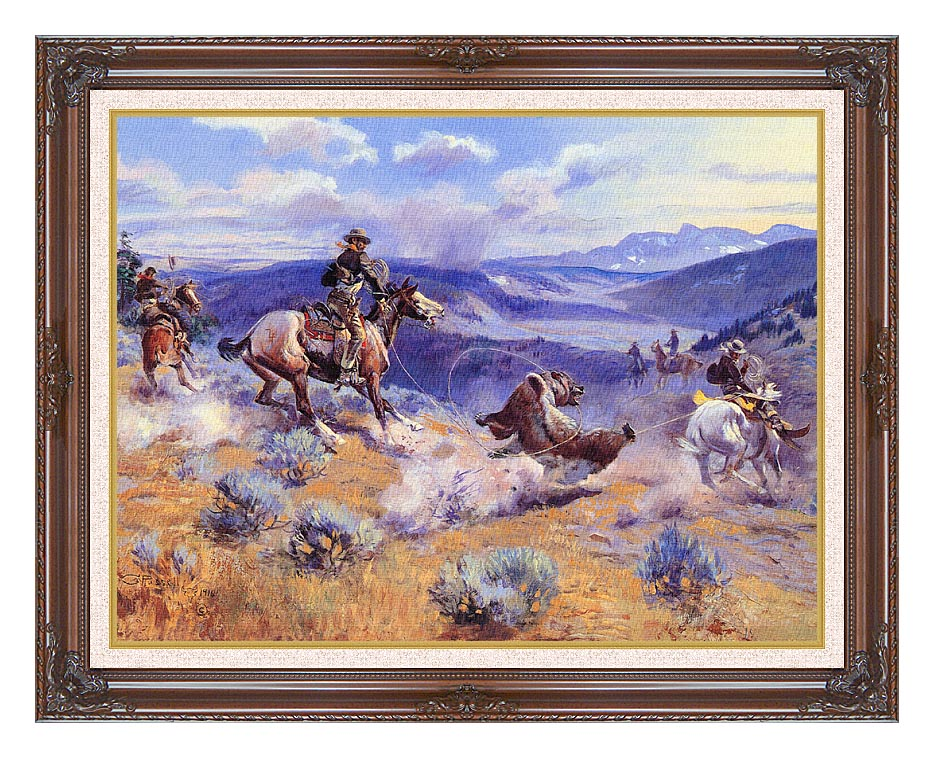 Charles Russell Loops and Swift Horses are Surer than Lead with Dark Regal Frame w/Liner