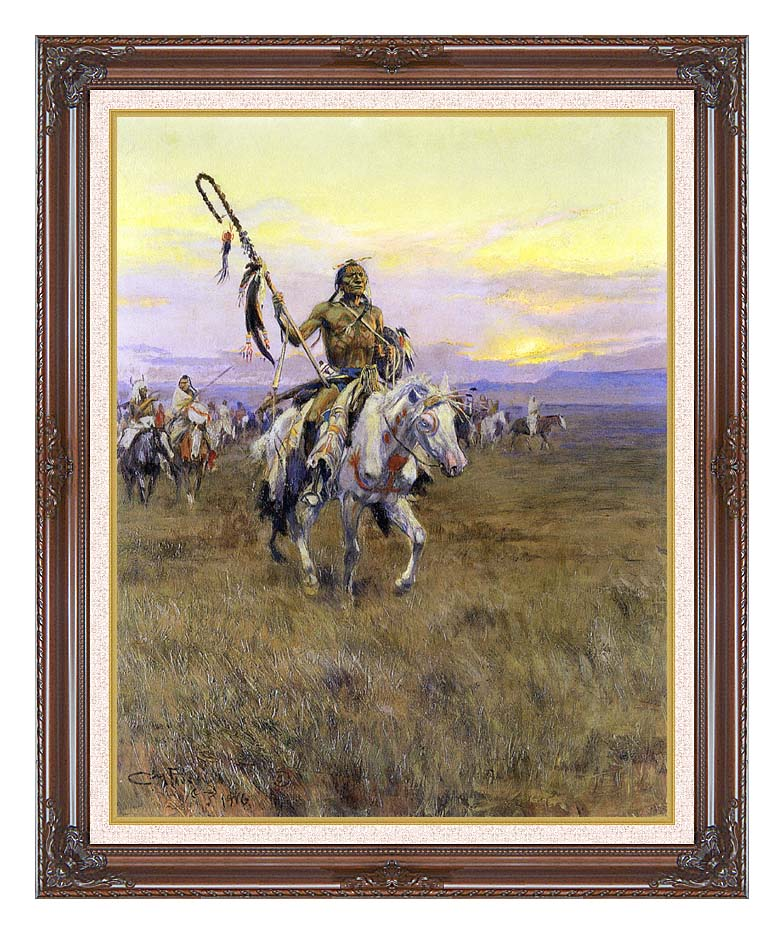 Charles Russell Medicine Man with Dark Regal Frame w/Liner
