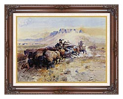 Charles Russell Redmans Meat canvas with dark regal wood frame