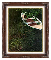 Claude Monet The Empty Boat canvas with dark regal wood frame