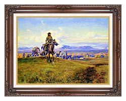 Charles Russell The Romance Makers canvas with dark regal wood frame