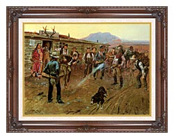 Charles Russell The Tenderfoot canvas with dark regal wood frame