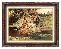 Charles Russell Three Generations canvas with dark regal wood frame