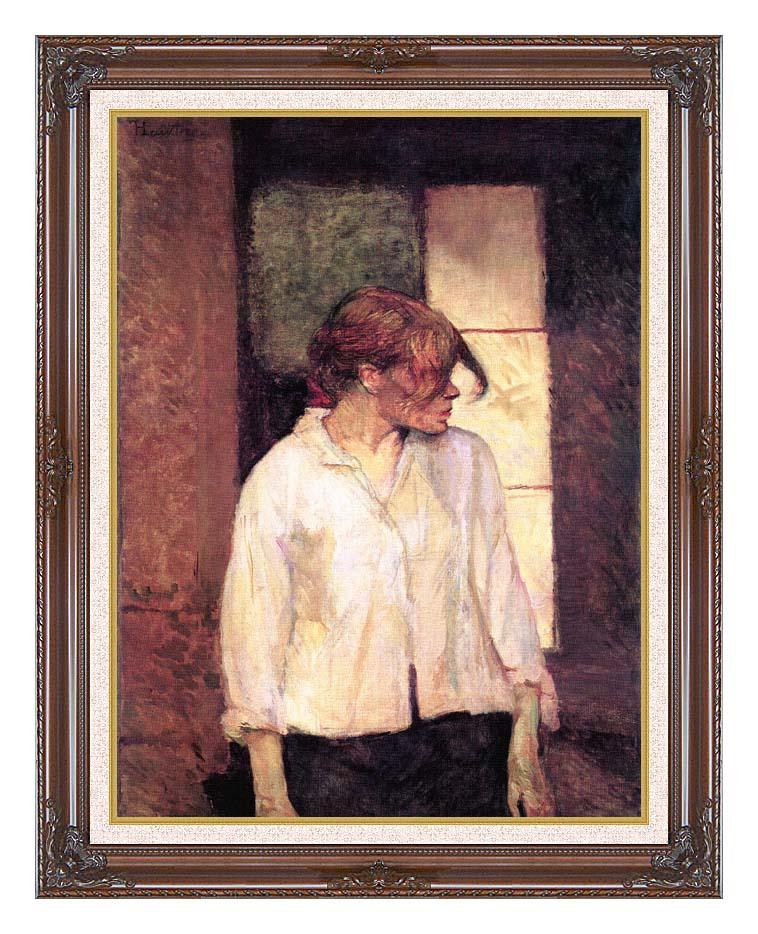 Henri de Toulouse Lautrec A Montrouge - Rosa La Rouge with Dark Regal Frame w/Liner