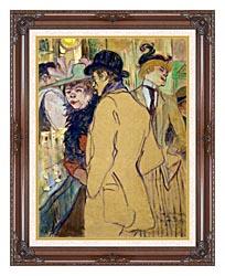 Henri De Toulouse Lautrec Alfred La Guigne canvas with dark regal wood frame