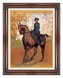 Henri De Toulouse Lautrec Amazone canvas with dark regal wood frame