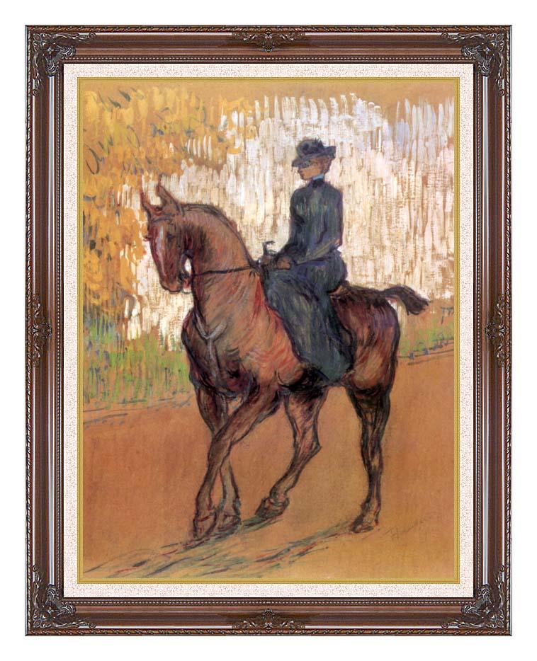 Henri de Toulouse Lautrec Amazone with Dark Regal Frame w/Liner