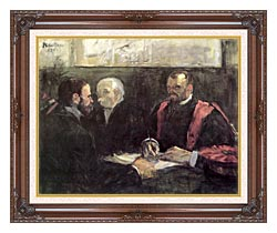 Henri De Toulouse Lautrec An Examination At The Faculty Of Medicine Paris canvas with dark regal wood frame