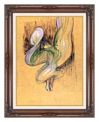 Henri De Toulouse Lautrec Loie Fuller canvas with dark regal wood frame