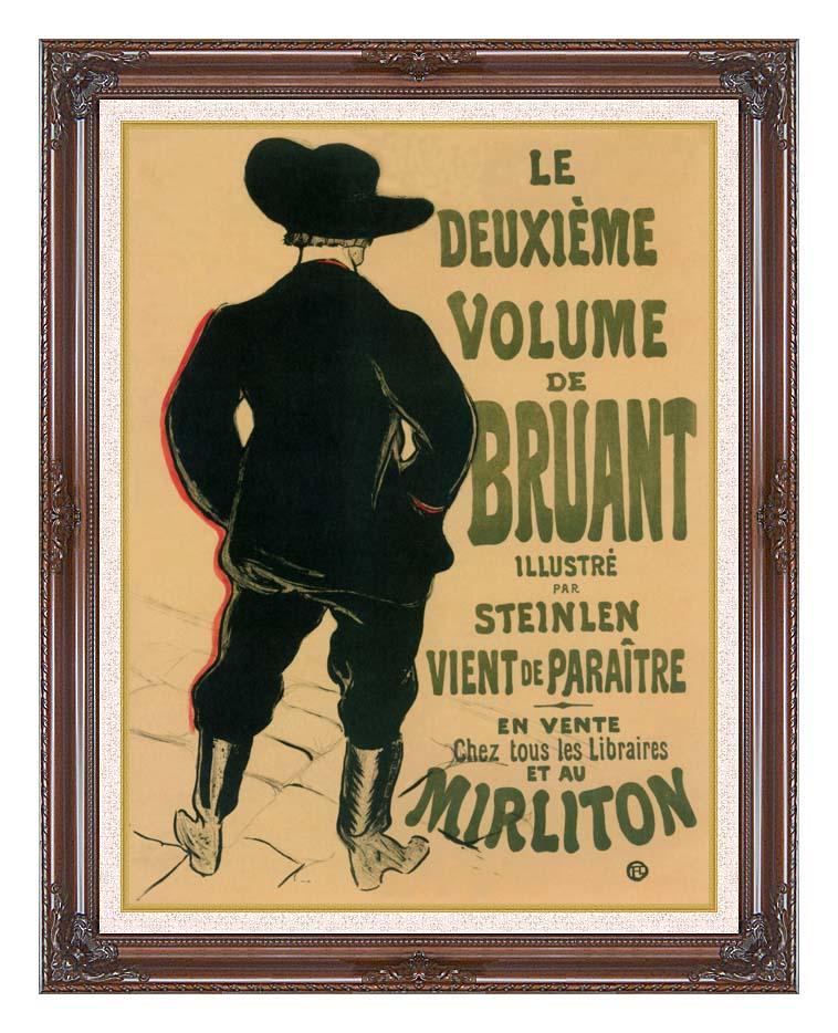 Henri de Toulouse Lautrec Aristide Bruant at the Mirliton with Dark Regal Frame w/Liner