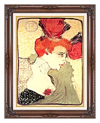 Henri De Toulouse Lautrec Marcelle Lender canvas with dark regal wood frame
