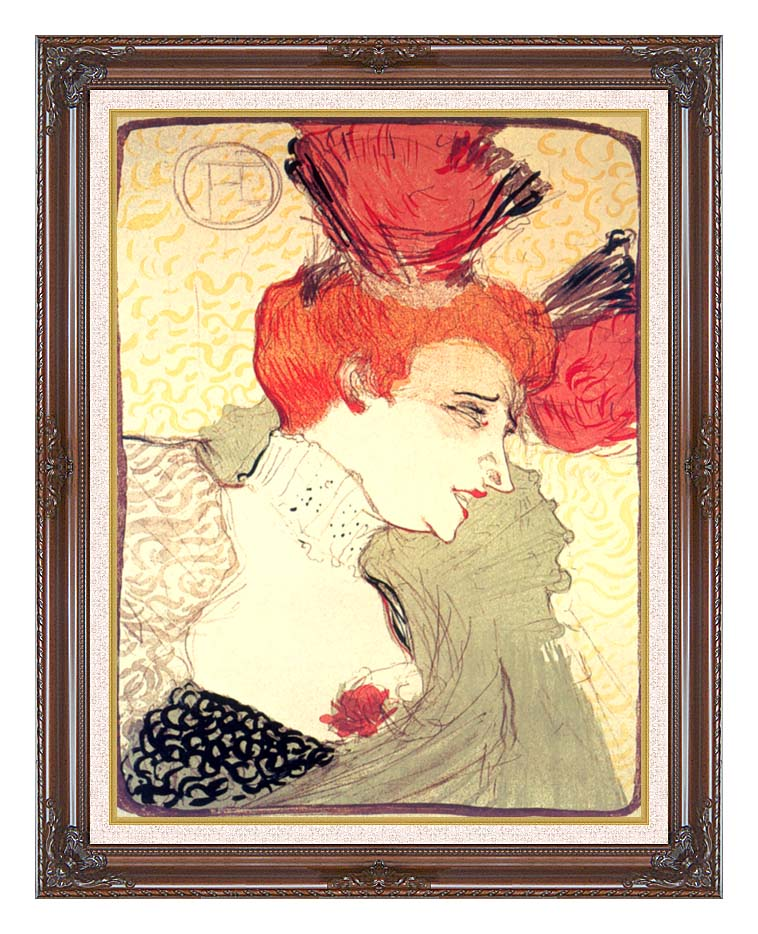 Henri de Toulouse Lautrec Marcelle Lender with Dark Regal Frame w/Liner