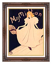 Henri De Toulouse Lautrec May Milton canvas with dark regal wood frame
