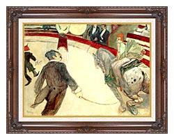 Henri De Toulouse Lautrec At The Cirque Fernando The Ringmaster canvas with dark regal wood frame