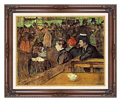 Henri De Toulouse Lautrec The Moulin De La Galette canvas with dark regal wood frame