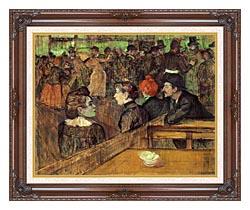 Henri De Toulouse Lautrec The Moulin De La Galette canvas with dark regal wood frame