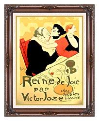 Henri De Toulouse Lautrec Reine De Joie Par Victor Joze canvas with dark regal wood frame