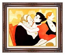 Henri De Toulouse Lautrec Reine De Joie Par Victor Joze Detail canvas with dark regal wood frame