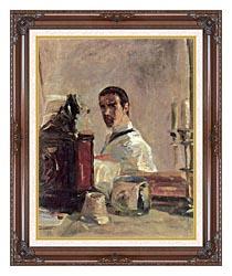 Henri De Toulouse Lautrec Henri De Toulouse Lautrec Self Portrait canvas with dark regal wood frame
