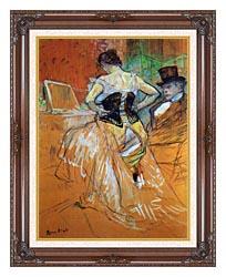 Henri De Toulouse Lautrec Study For Elles Woman In A Corset canvas with dark regal wood frame