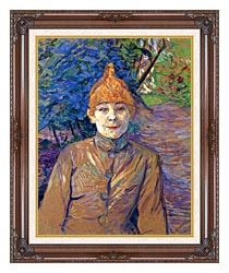 Henri De Toulouse Lautrec The Streetwalker canvas with dark regal wood frame