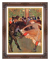 Henri De Toulouse Lautrec Training Of New Girls By Valentin The Boneless canvas with dark regal wood frame