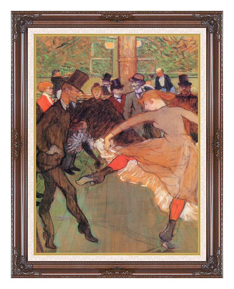 Henri de Toulouse Lautrec Training of New Girls by Valentin the Boneless with Dark Regal Frame w/Liner