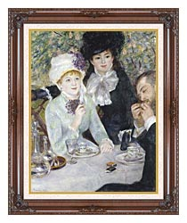 Pierre Auguste Renoir After The Luncheon canvas with dark regal wood frame
