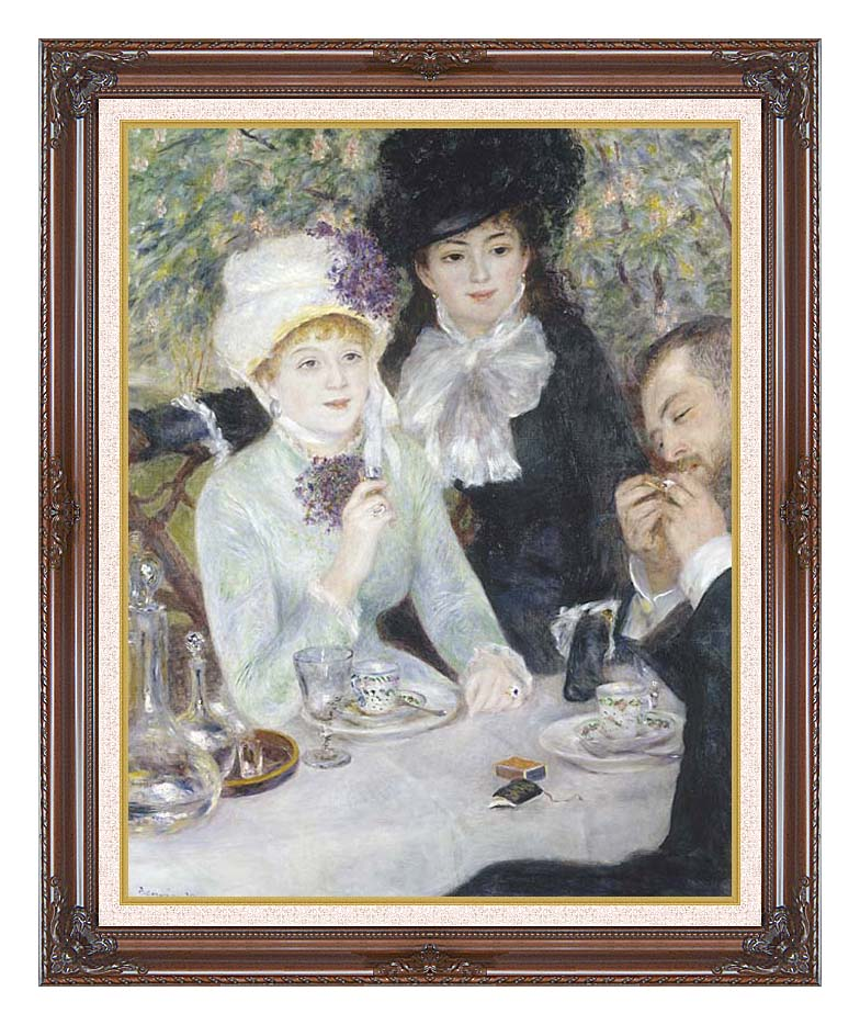 Pierre Auguste Renoir After the Luncheon with Dark Regal Frame w/Liner