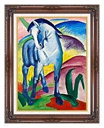 Franz Marc Blue Horse 1 canvas with dark regal wood frame