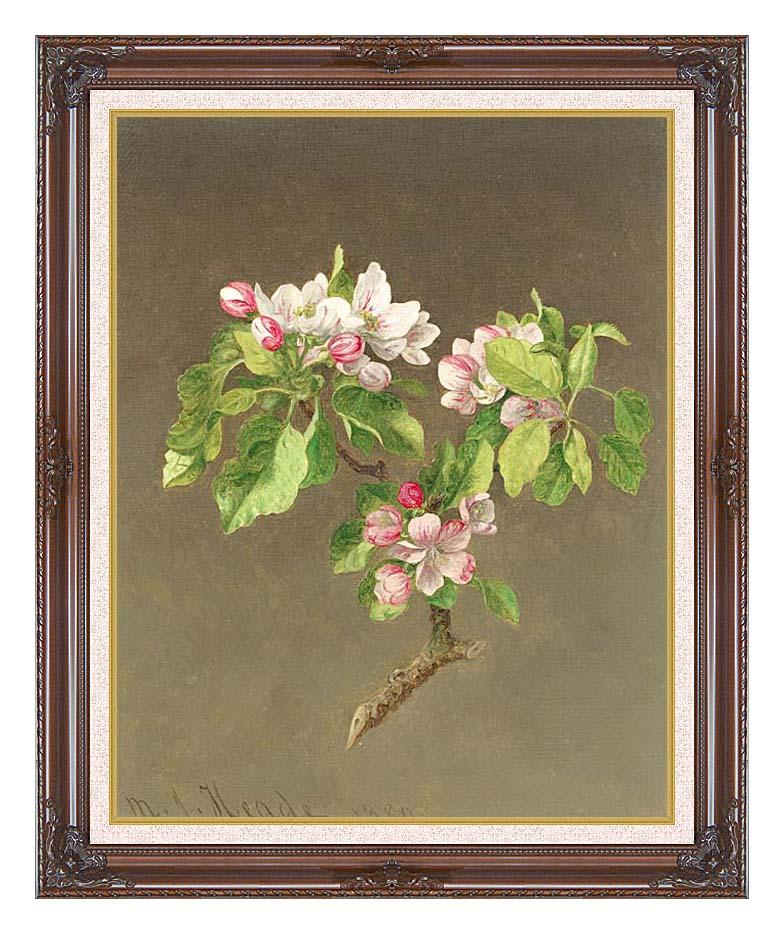 Martin Johnson Heade Apple Blossoms with Dark Regal Frame w/Liner