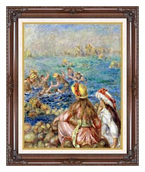 Pierre Auguste Renoir Baigneuses canvas with dark regal wood frame