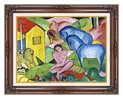 Franz Marc The Dream canvas with dark regal wood frame