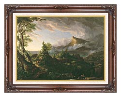 Thomas Cole The Course Of Empire The Savage State canvas with dark regal wood frame