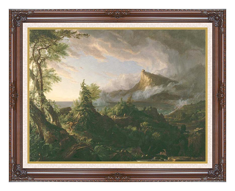 Thomas Cole The Course of Empire The Savage State with Dark Regal Frame w/Liner