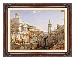 Thomas Cole The Course Of Empire The Consummation Of Empire canvas with dark regal wood frame
