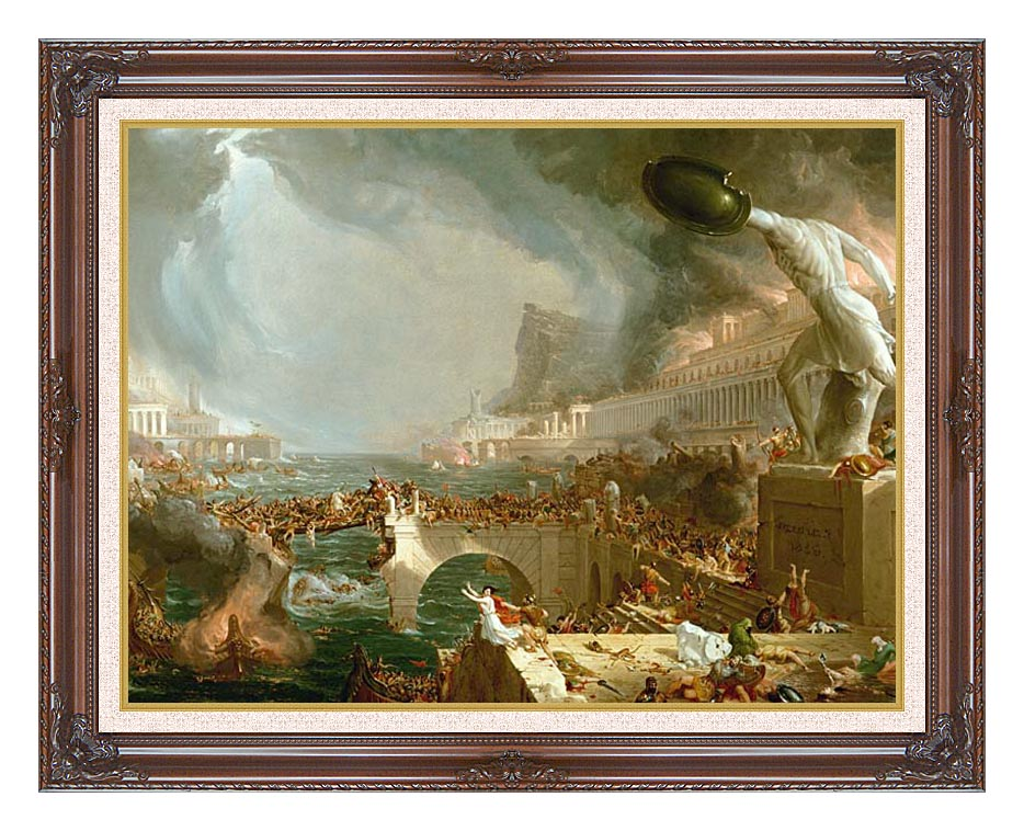 Thomas Cole The Course of Empire Destruction with Dark Regal Frame w/Liner