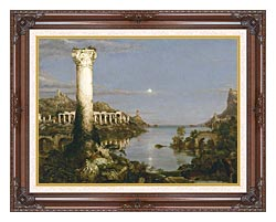 Thomas Cole The Course Of Empire Desolation canvas with dark regal wood frame