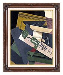 Juan Gris Grapes canvas with dark regal wood frame