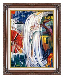 Franz Marc The Bewitched Mill canvas with dark regal wood frame