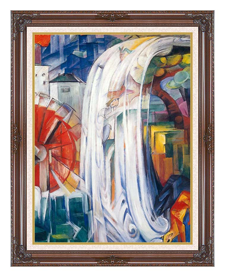 Franz Marc The Bewitched Mill with Dark Regal Frame w/Liner