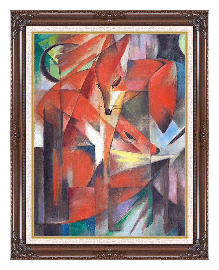 Franz Marc The Foxes with Dark Regal Frame w/Liner